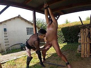 ball slapping masturbation