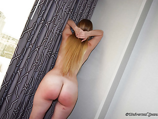 Naked Blonde Spanked Over the Knee!