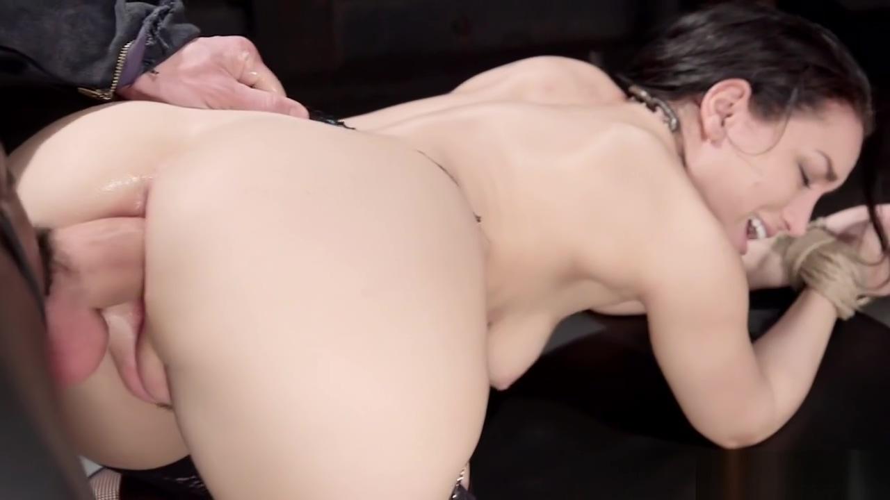 Bound slave trainee gets anal banged