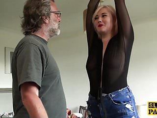 Worthless british sub slapped and choked