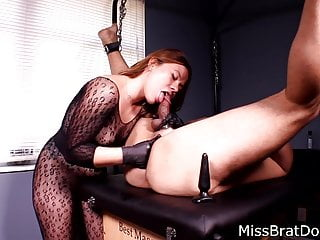 Prostate Massage Bound Slave by Femdom Miss Perversions