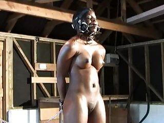 CMNF - Ebony humiliating pony girl training
