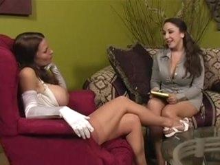 Nylon Nylons VS Hose - Fetish lesbian domination