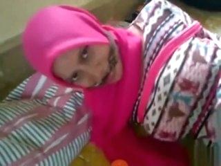 Hijab bondage and cleave gag