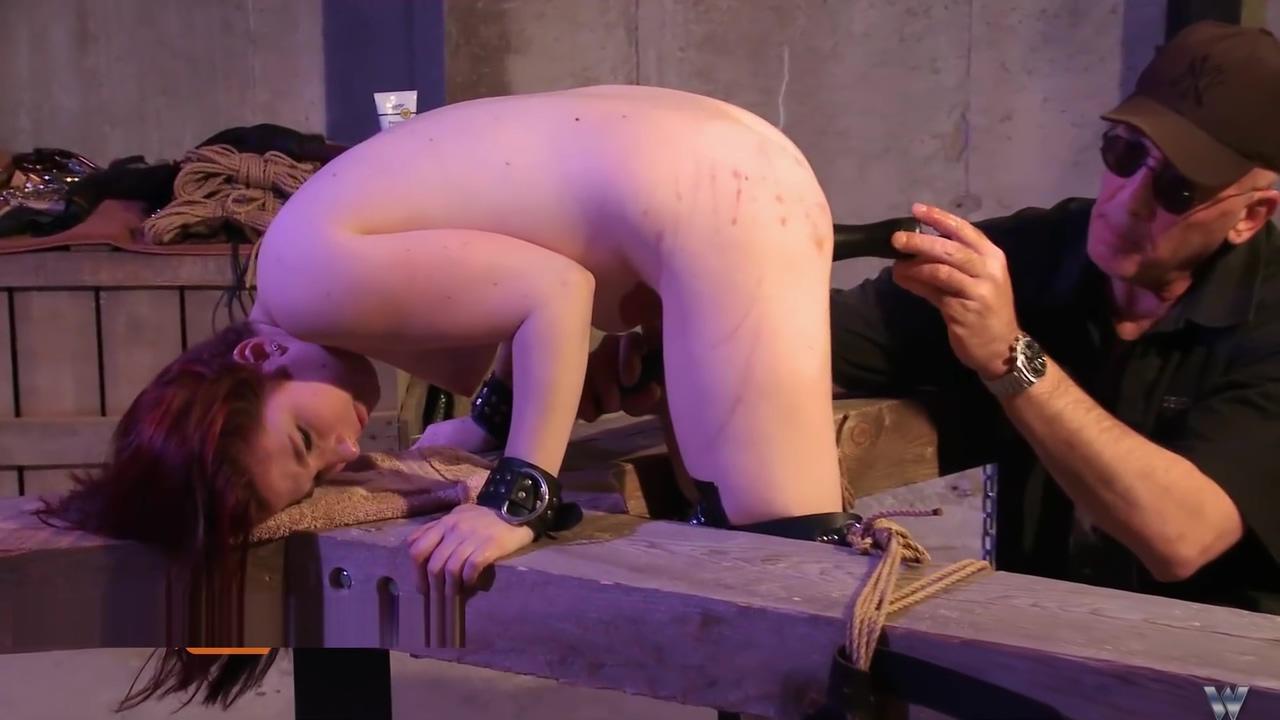 spanked bondage slave, bdsm master