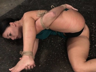 Flogged slave babe disciplined by black dom